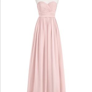 Azazie Jada Dusty Rose Blush Pink Bridesmaid Dress